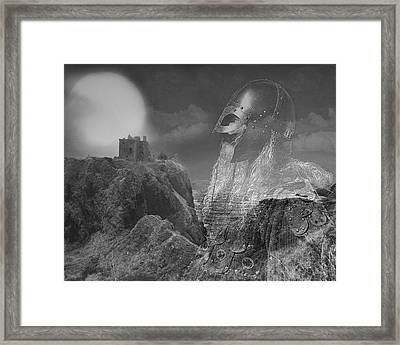 The Heart Of A Warrior Framed Print
