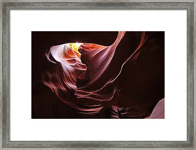 Framed Print featuring the photograph The Heart Of Antelope Canyon by Dan Myers