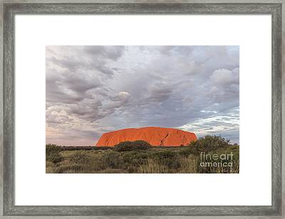 The Heart Of Australia Framed Print by Linda Lees