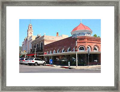 The Heart Of Sonoma California 5d24484  Framed Print by Wingsdomain Art and Photography