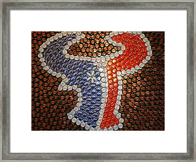 The Heart Of Texans Framed Print by Ruby Rammer