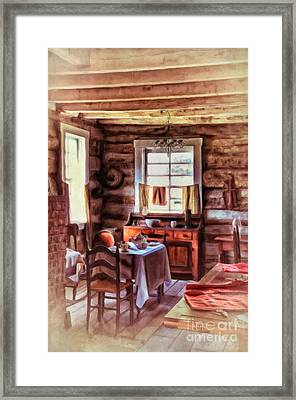 The Heart Of The Home Framed Print by Lois Bryan