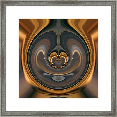 Framed Print featuring the digital art the Heart of Time by rd Erickson