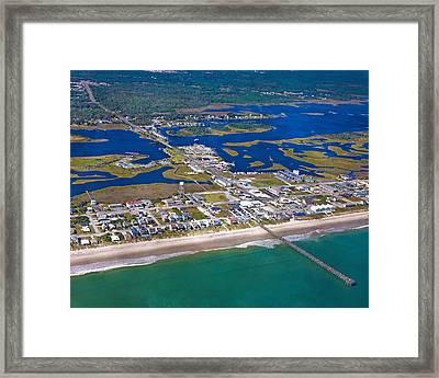 The Heart Of Topsail Framed Print by Betsy Knapp