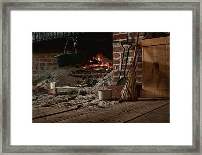 The Hearth - Fireplace Framed Print