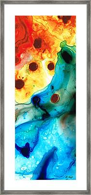 The Heart's Desire - Colorful Abstract By Sharon Cummings Framed Print