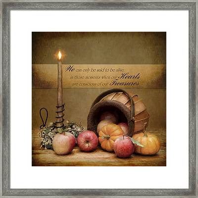 The Heart's Treasure Framed Print