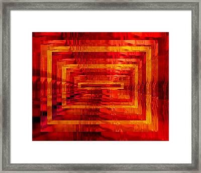 The Heat Is On Op Art Framed Print by Patricia E Sundik