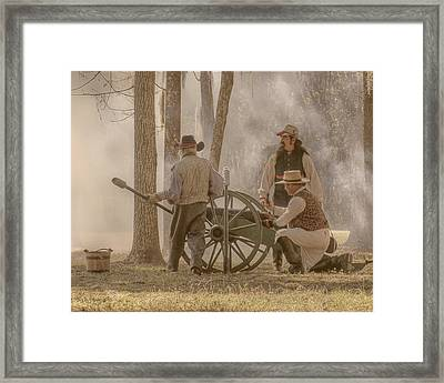 The Heat Of Battle Framed Print
