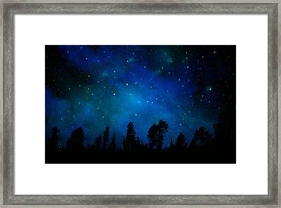 The Heavens Are Declaring Gods Glory Mural Framed Print