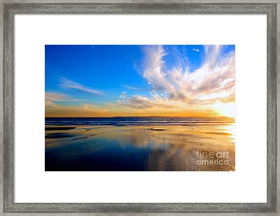 The Heaven's Declare His Glory Framed Print by Margie Amberge