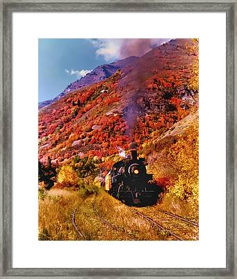 The Heber Creeper Framed Print by TL  Mair