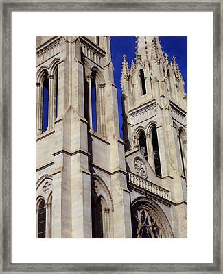 The Heights Of The Cathedral Basilica Of The Immaculate Conception Framed Print by Angelina Vick