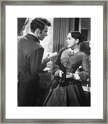 The Heiress, From Left, Montgomery Framed Print by Everett