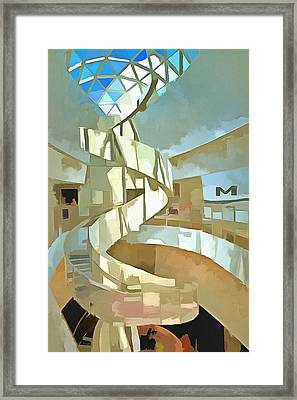 The Helical Staircase Framed Print by L Wright