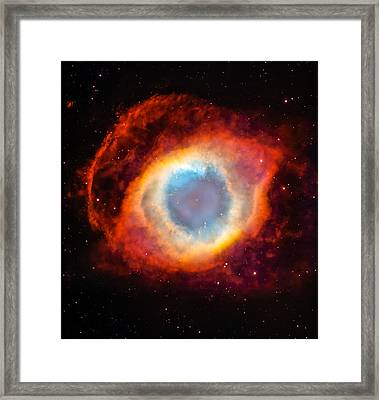 The Helix Nebula Framed Print by Marco Oliveira