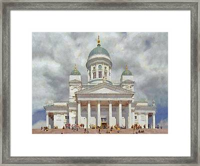 The Helsinki Cathedral Framed Print by Digital Photographic Arts