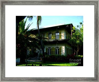 The Hemingway House In Key West Framed Print by Susanne Van Hulst