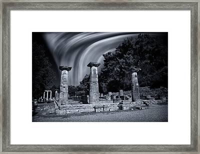 Framed Print featuring the photograph The Heraion Of Ancient Olympia by Micah Goff