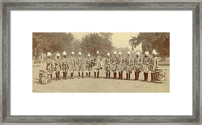 The Heralds And Trumpeters Framed Print by British Library