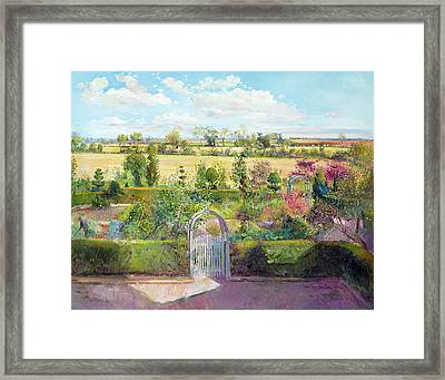 The Herb Garden After The Harvest Framed Print by Timothy Easton