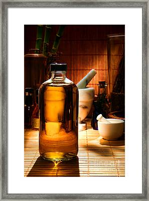 The Herbal Shop  Framed Print by Olivier Le Queinec