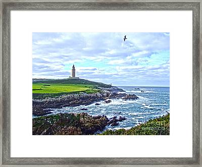 The Hercules Tower Framed Print by Andrew Middleton