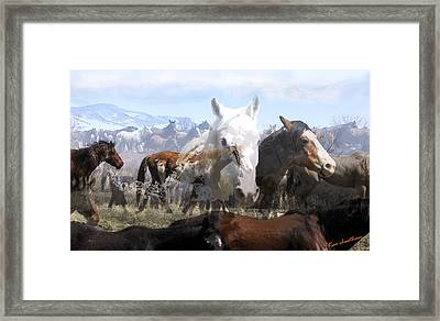The Herd 2 Framed Print by Kae Cheatham