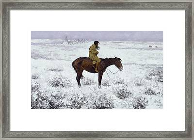 The Herd Boy Framed Print by Frederic Remington