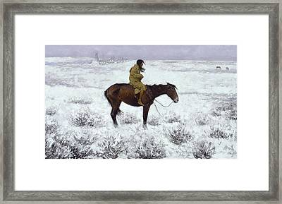 The Herd Boy Framed Print