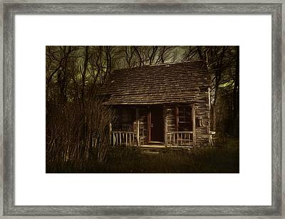 The Hermit's Cabin Framed Print by Julie Dant