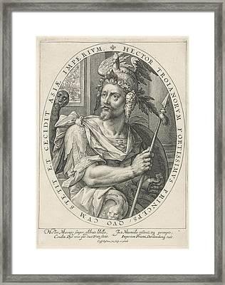 The Hero Hector Of Troy, Crispijn Van De Passe Framed Print by Crispijn Van De Passe (i)