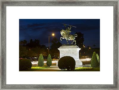 Framed Print featuring the photograph The Hero Of Spain by Nathan Rupert