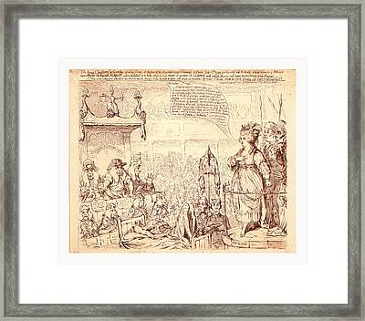 The Heroic Charlotte La Corday, Upon Her Trial, At The Bar Framed Print by Litz Collection