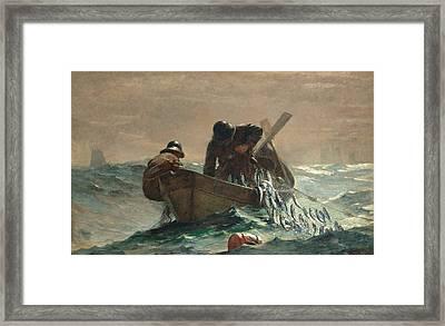 The Herring Net Framed Print by Winslow Homer
