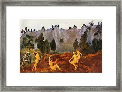 The Hesitation Of Orestes Framed Print