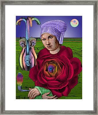 The Hidden Heart Framed Print
