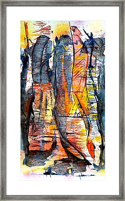 Framed Print featuring the painting The Hidden Passage by Buck Buchheister