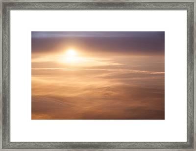 High Altitude Sunset  Framed Print