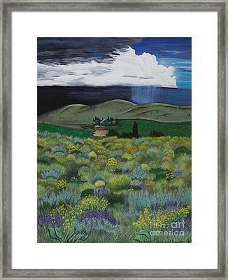 The High Desert Storm Framed Print