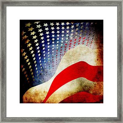 The High Flying Flag Framed Print