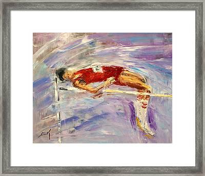 The High Jump Framed Print