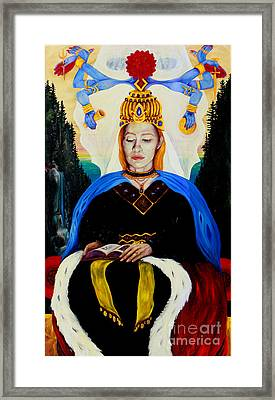 The High Priestess Framed Print by An-Magrith Erlandsen