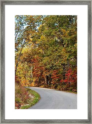 The High Road Framed Print by Deena Stoddard