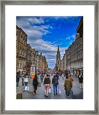 The High Street Framed Print by Karen Bain