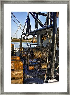 The Highways And Byways Of Shrimping Framed Print