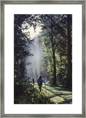 The Hiker Framed Print by Rita Cooper