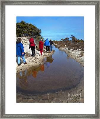 The Hiking Line Framed Print by Robert Pilkington