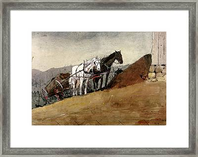 The Hill Top Barn - Houghton Farm Framed Print by Celestial Images