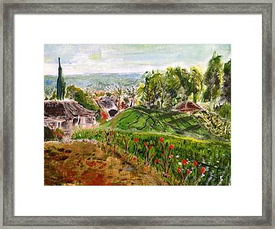 Framed Print featuring the  The Hills Are Alive... by Belinda Low